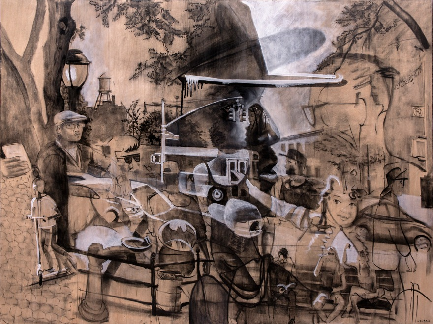 artinthepark2014_30x40_charcoal and oil on panel